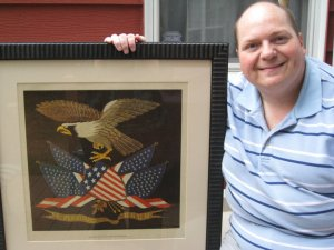Johnny next to our very own American Eagle print!!!  Woo-Hoo!!!
