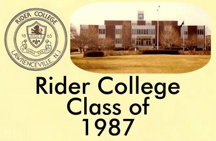 Rider College Sign