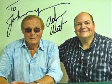 Adam West (Batman) with Johnny-02