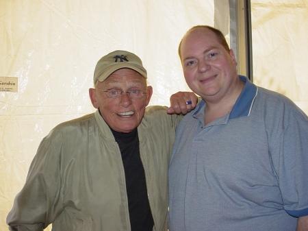 Frank Gorshin ('Riddler' from Batman) with Johnny