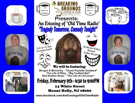 Breaking Grounds FB Sign-'Tragedy Tomorrow, Comedy Tonight'