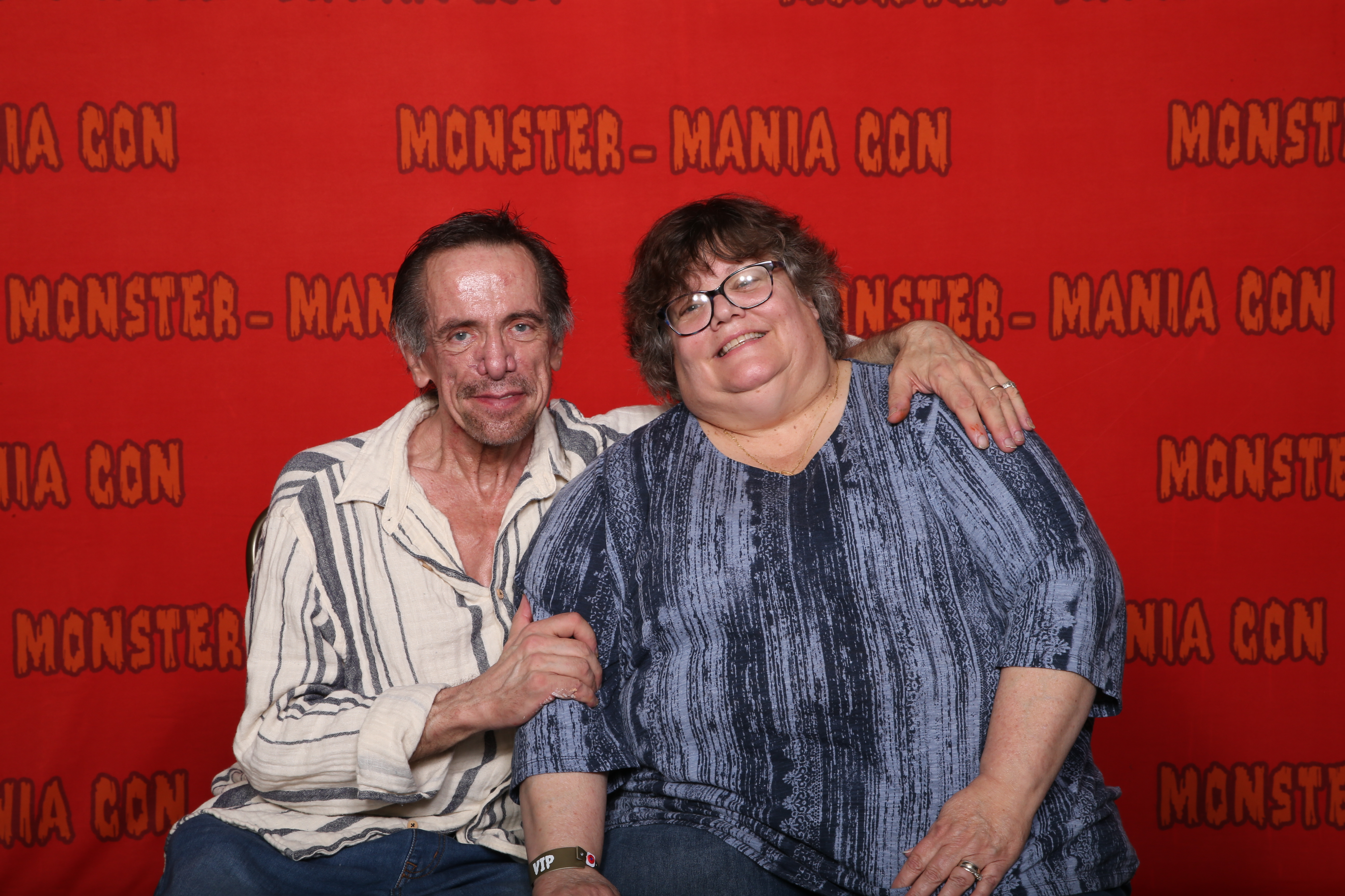 Clive Barker (Horror Writer) with Helen